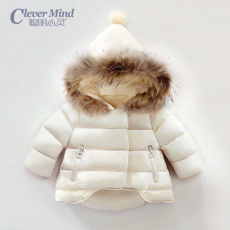 2016 Winter Girls Parka Spandex Real Fur Thickening Hoods Natural Jacket Warm Snowsuit Design New Brand Child Clothes 0-2 years thickening warm fur collar winter coat new 2016 women clothes lamb wool jacket hooded parka army green overcoat xl a3878