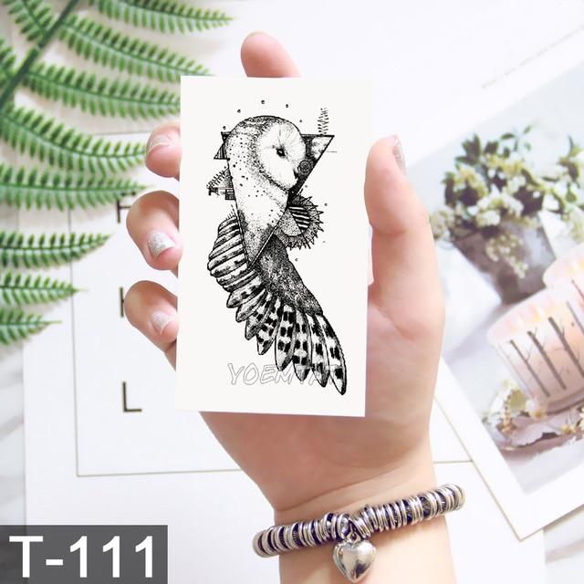 Geometry cool Temporary Tattoo Sticker Women Minimalist lines pattern Body Art New Design Fake Men Tattoos 5