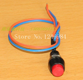 [SA]Taiwan normally open electronic switch M10 round red button without lock button reset switch PB205 B stripline--50pcs/lot