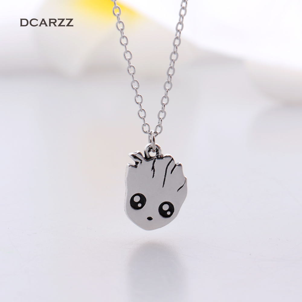 The Baby Groot Necklace Pendant Avengers:Infinity War Movie Cosplay Jewelry Drop Shipping