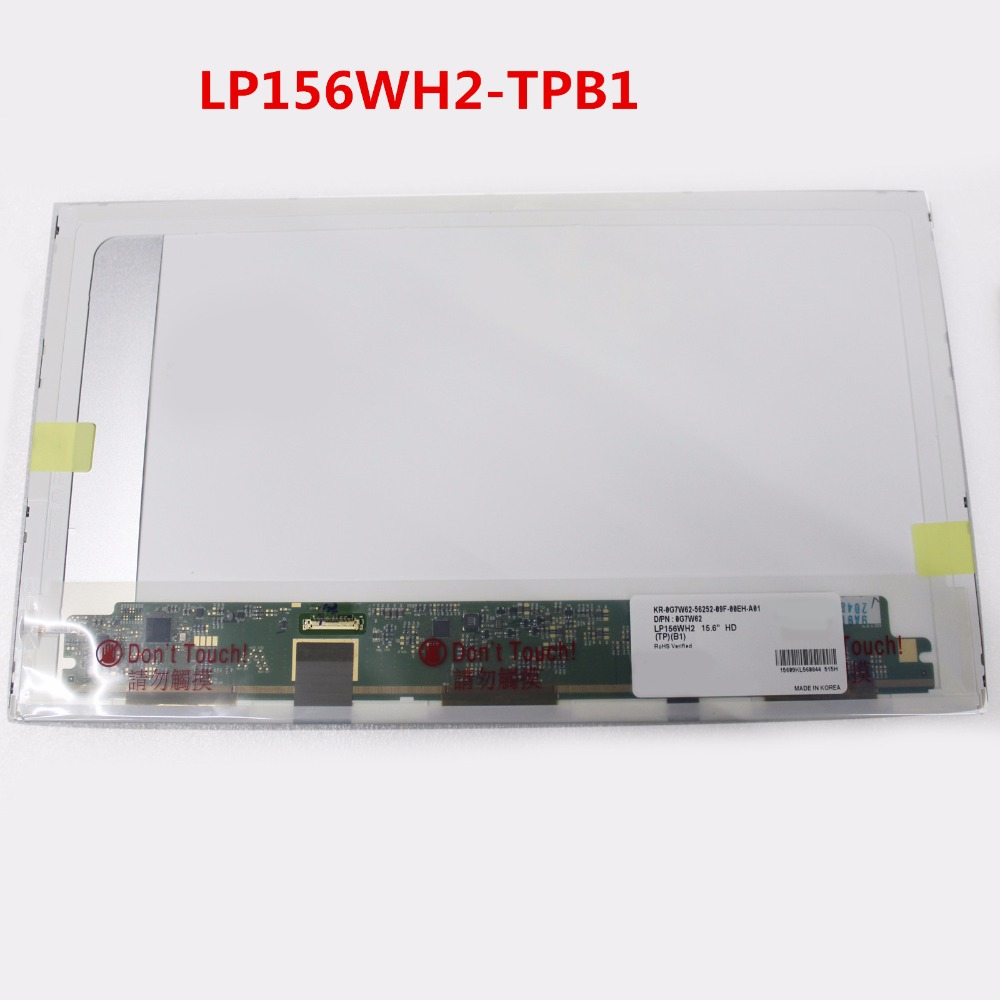 Laptop LCD Screen Display Panel Replacement FOR DELL E6510 E5510 LTN156AT08 LP156WH2-TPB1 15.6
