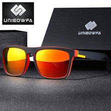 17d8e35dfd UNIEOWFA hombre naranja cuadrado gafas de sol para hombres, gafas de UV400  gafas tonos para conducción de los hombres Polaroid g.