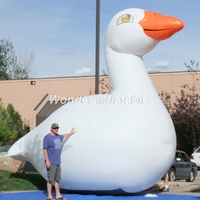 Customized white giant inflatable goose inflatable swan animal cartoon character for outdoor advertising
