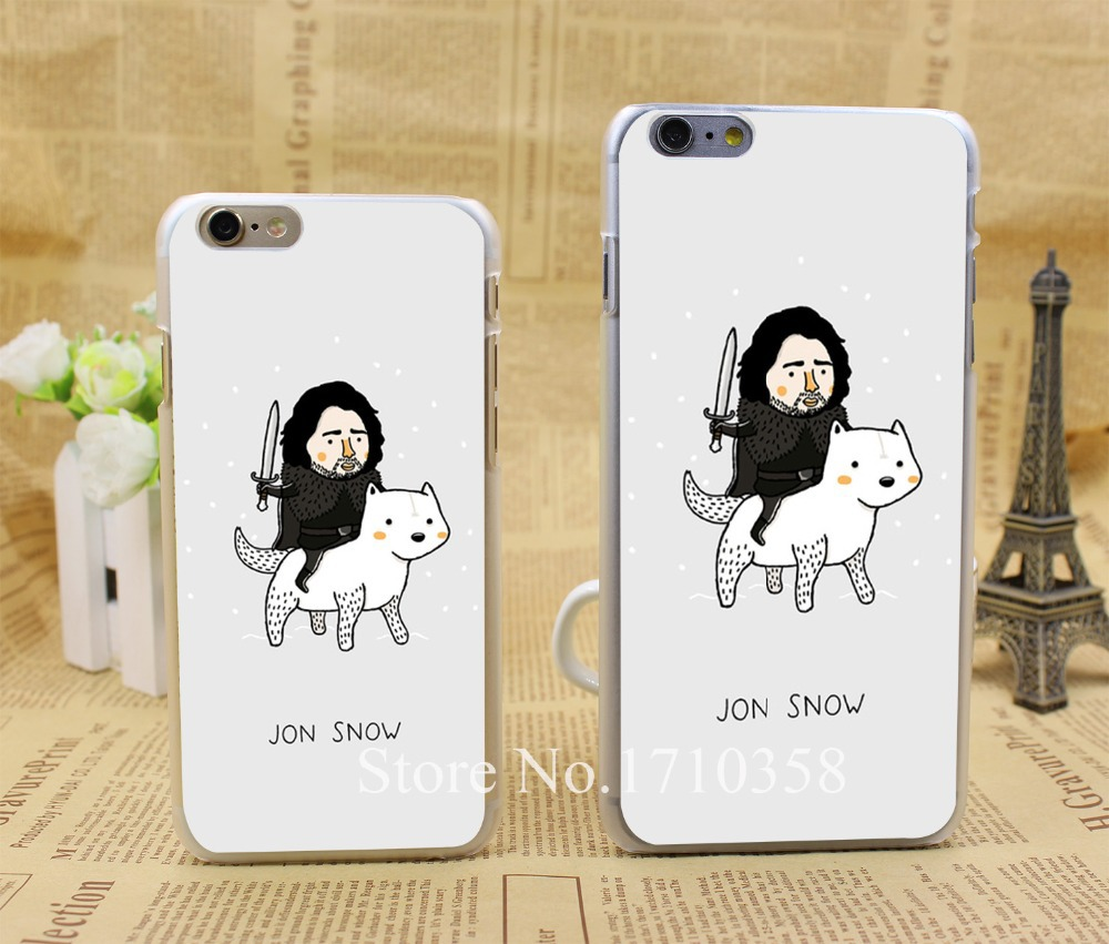 jon snow game of throne hellip Style Fashion Hard Transparent Clear Back Style Case for iPhone 7 7 Plus 6 6s 6 plus Cover