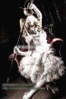 Черный Батлер Элизабет Midford белое платье Лолиты Маскарадный костюм головной убор + Прихватки для мангала + платье + Средства ухода за кожей ш