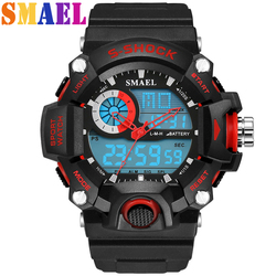 LED cyfrowe wojskowe zegarki sportowe męskie luksusowe marki analogowe kwarcowy s-shock męski zegarek sportowy wodoodporny zegarek mężczyzn