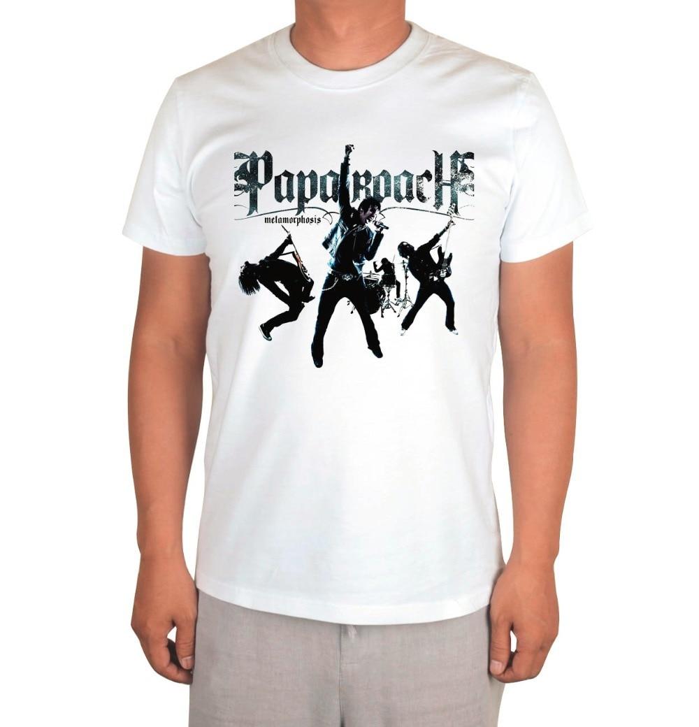 9affdee0fab6 3 kinds Papa Roach Punk Rocker Band White Tshirt skateboard hip hop poleras  hombre -in T-Shirts from Men s Clothing on Aliexpress.com