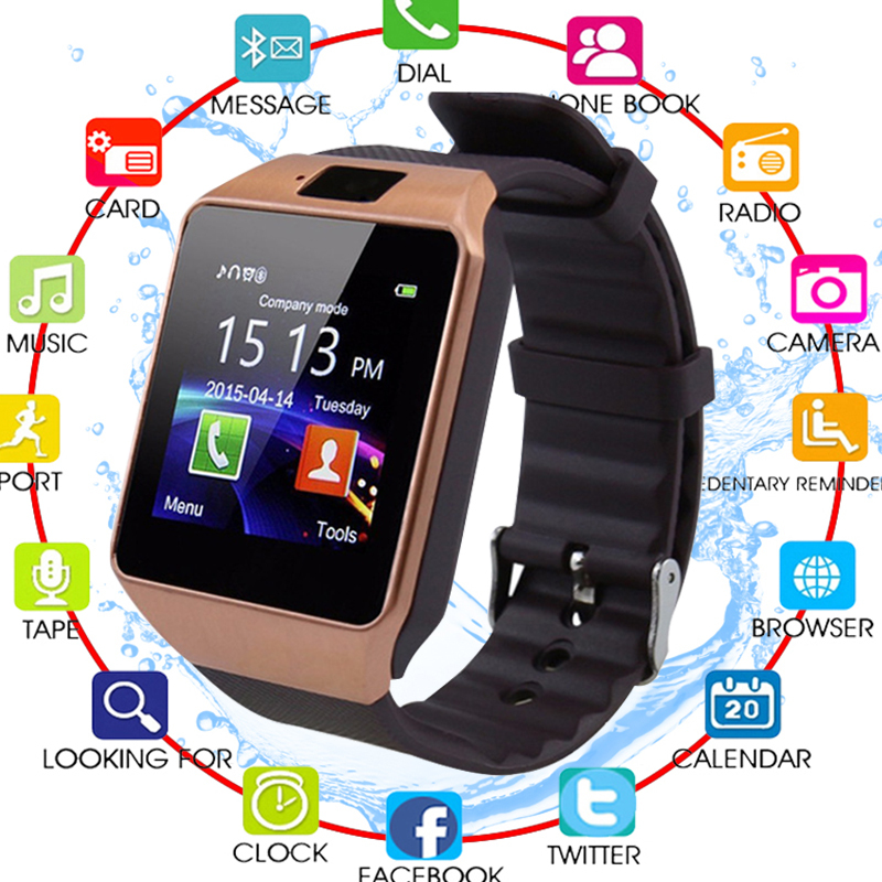 <font><b>Bluetooth</b></font> <font><b>Smart</b></font> <font><b>Watch</b></font> Smartwatch DZ09 Android Phone Call Relogio 2G GSM SIM TF Card Camera for iPhone Samsung HUAWEI PK GT08 <font><b>A1</b></font> image