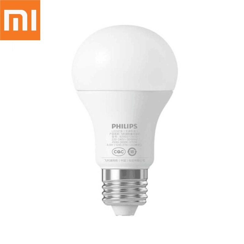 Original Xiaomi Mijia Smart LED E27 Luz de bulbo APP WiFi remoto grupo de Control de luz de la noche de 3000 K-5700 K 6,5 W 220-240 V 50/60Hz