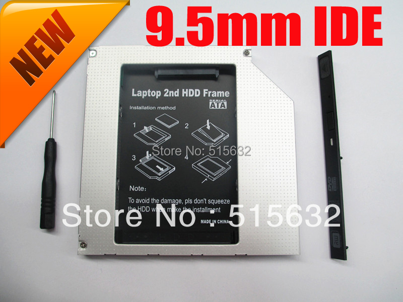 2nd PATA/IDE HDD SSD Caddy For Mid Late 2007 MA895LL MA896LL MB062LL Macbook Pro