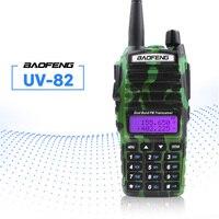 baofeng uv Baofeng UV-82 מכשיר הקשר 5W Dual PTT 137-174 / 400-520MHz UV 82 שני Portable חובב Ham Way רדיו תחנת לציד Tracker (2)