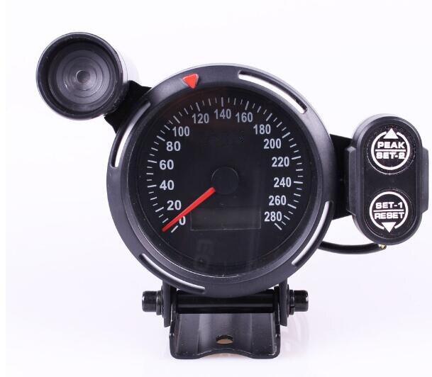 Logo Original 80mm compteur de vitesse de voiture numérique jauge LED rétro-éclairage odomètre 280 mi/h compteur de vitesse avec lumière de décalage pour BMW E36 E90