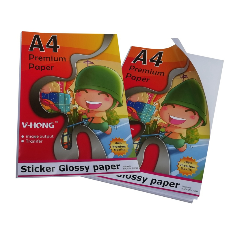 Full Sheet 8 5 quot x 11 quot Shipping Sticker Paper Adhesive Labels Glossy Water Resistant for Laser or InkJet Printer in Photo Paper from Computer amp Office