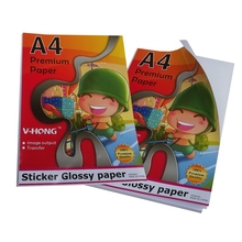 A4 paper can Self Adhesive Sticker for ink jet printer high Glossy Paper