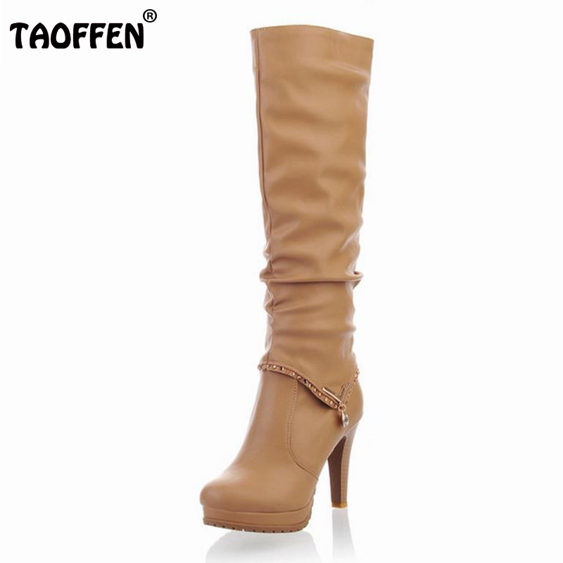 Women High Heel Over Knee Boots Ladies Riding Fashion Long Snow Boot Warm Winter Botas Footwear Shoes P6704 EUR size 34-40