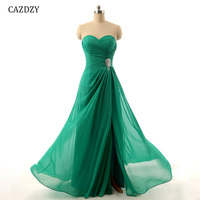 CAZDZY 47 Colors Sweet Heart Long Bridesmaid Dress A Line Pleats Wedding party Dress Customade Strapless for woman