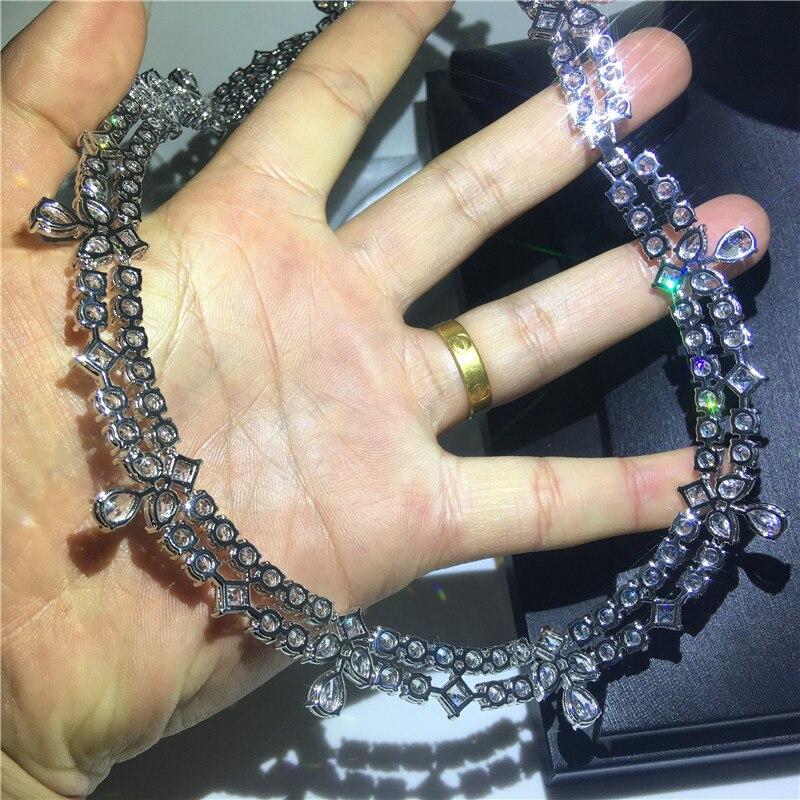 Vecalon Moonlight collier or blanc rempli AAAA cz soirée colliers pour femmes accessoires de mariage bijoux - 3