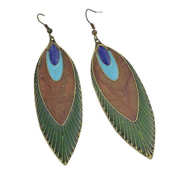 Peacock Feather Female Earrings