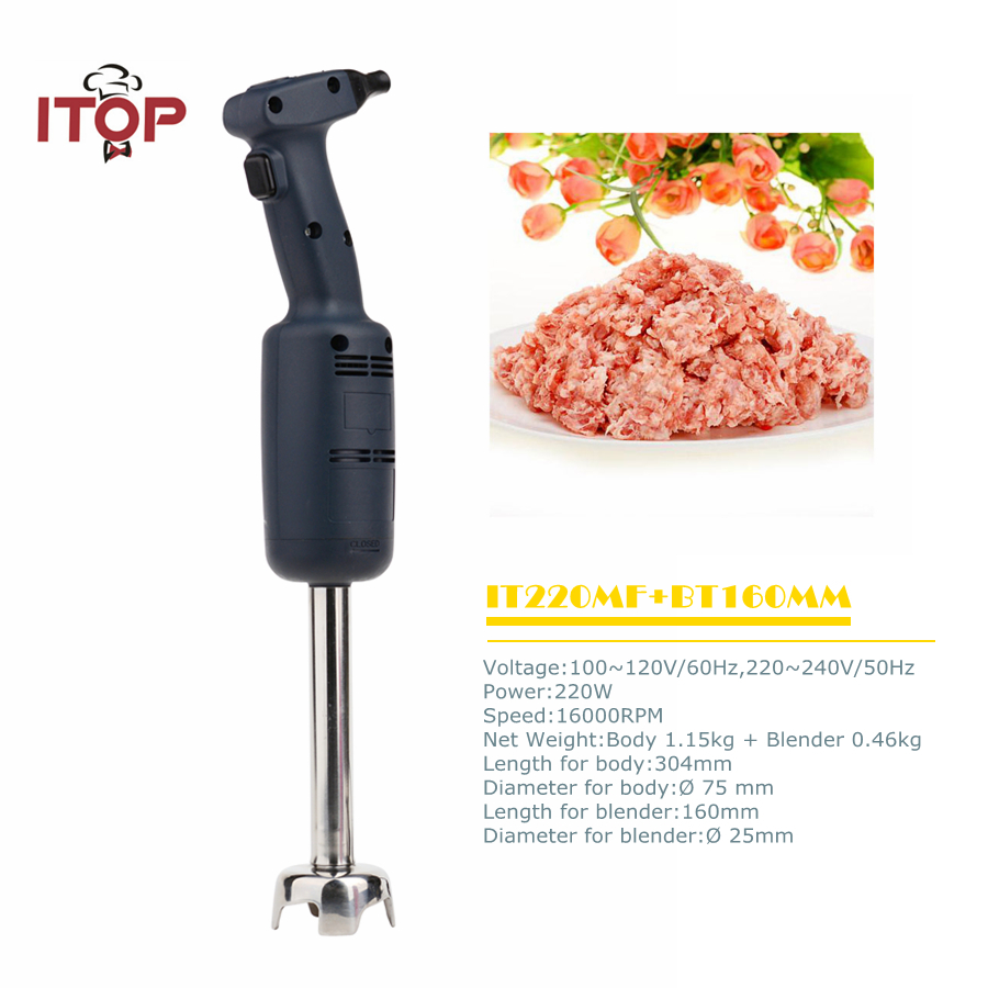ITOP New Arrival Commercial Handheld immersion blender Stainless Steel Beater Electric Professional Food Mixer EU/US/UK Plug цена и фото