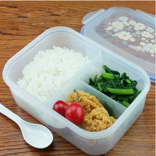 Fashion High Capacity Dinnerware Sets PP Bento Lunch Box Food Container Handle Singel Layer Lunch Box TableWare High Quality