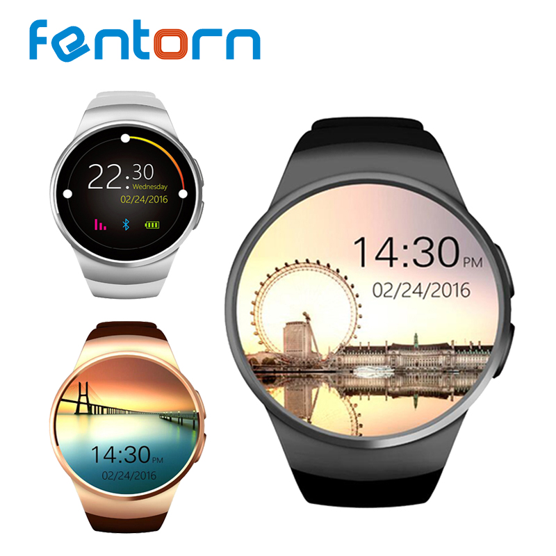 Kingwear KW18 Smart Watch phone support TF SIM card Heart Rate IPS Screen bluetooth smartwatch For Apple IOS gear s2 Android OS