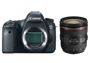 New Canon EOS 6D 20.2MP Full Frame DSLR Camera Body & 24-70mm F/4L IS USM Lens