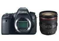 Новый Canon EOS 6D 20.2mp полный Рамки DSLR Камера Средства ухода за кожей и 24 70 мм f/4l IS USM объектив