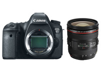 New Canon EOS 6D 20.2MP Full Frame DSLR Camera Body & 24 70mm F/4L IS USM Lens