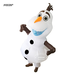 Image 3 - JYZCOS Olaf Snowman Costumes for Women Men Adult Purim Halloween Inflatable Christmas Blowup Anime Cosplay Fancy Dress Up Mascot