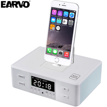 Multifunctional Gadget Portable Alarm Clock NFC FM Radio Charger Dock Phone Station Speaker for iPod iPhone 5 6 7 SE Mp3 Player