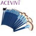 24 UNIDS Azul Sintético Pinceles de Maquillaje Cosmético Profesional Kit/Cepillo SV005179 B11