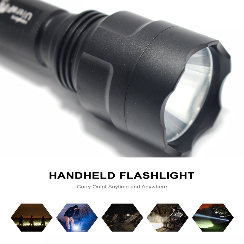XML-T6 2000LM Tactical Flashlight Aluminum 18650 Rechargeable LED Flashlight Flash Light Torch Lamp Lanterna Camping Hunting