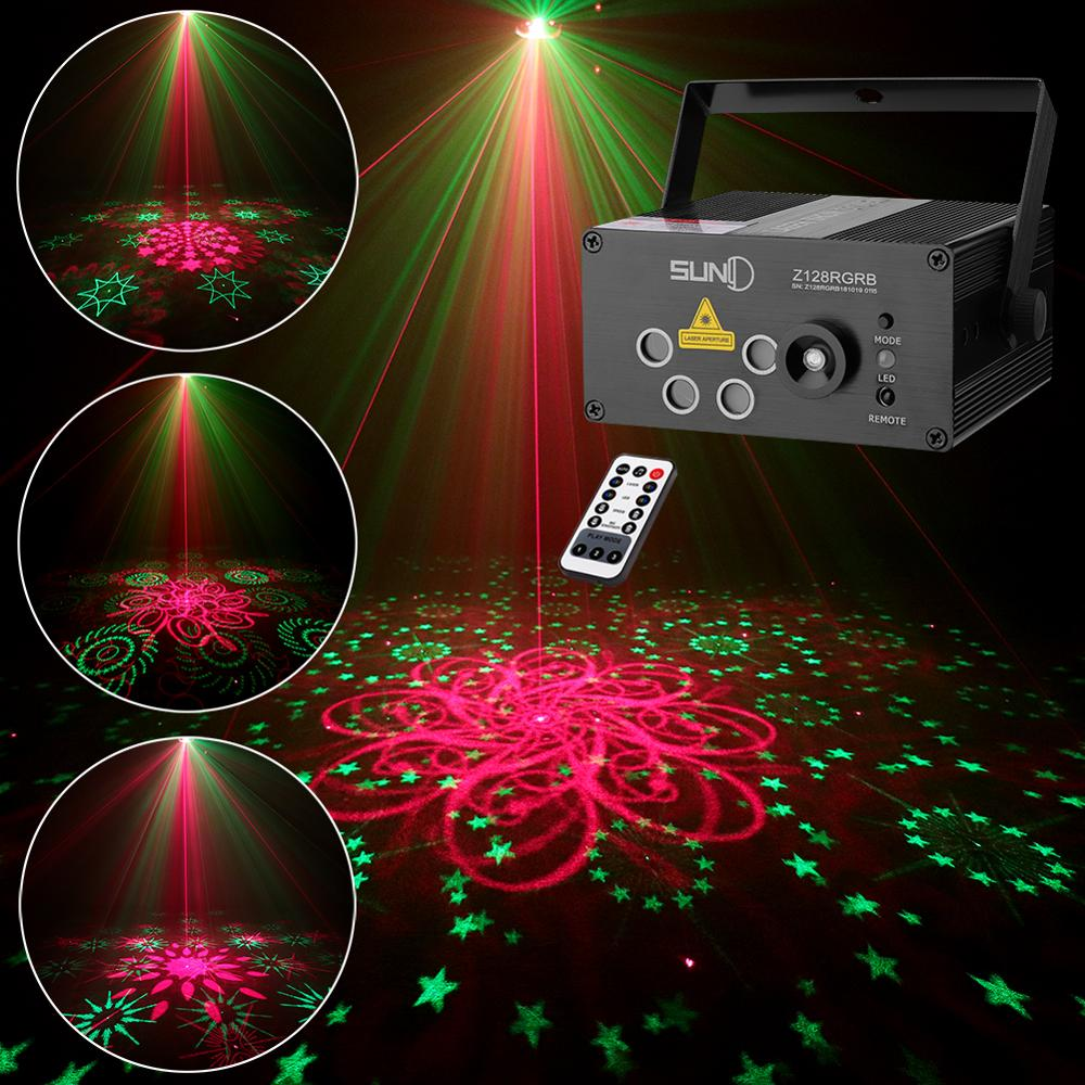 SUNY 128 RGB Pattern Laser Projector Sound Activated Stage Light Party Laser Light DJ Music Xmas Disco Light Show Dance Club BarSUNY 128 RGB Pattern Laser Projector Sound Activated Stage Light Party Laser Light DJ Music Xmas Disco Light Show Dance Club Bar