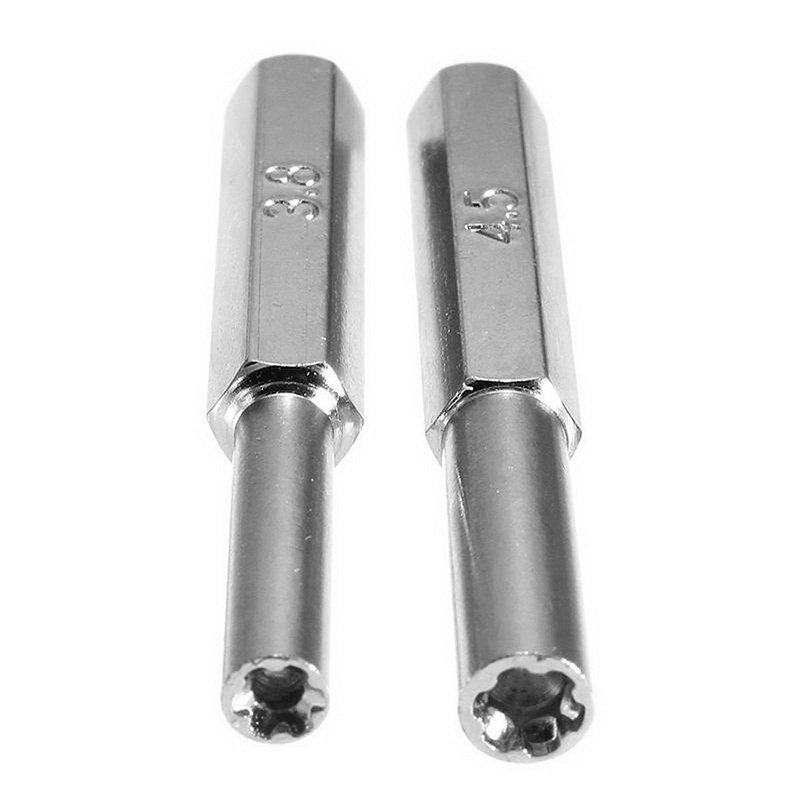 2 PCS New 3.8mm + 4.5mm Security Screwdriver Tool Bit Gamebit for Nintendo NES N64 Gameboy VHG03 P50
