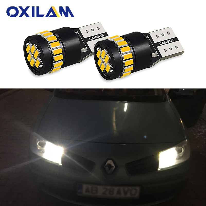 2x T10 W5W <font><b>LED</b></font> Canbus Car Clearance Parking Light Bulb for <font><b>Renault</b></font> Laguna <font><b>2</b></font> Megane Duster Clio Logan Captur Symbol <font><b>Scenic</b></font> image