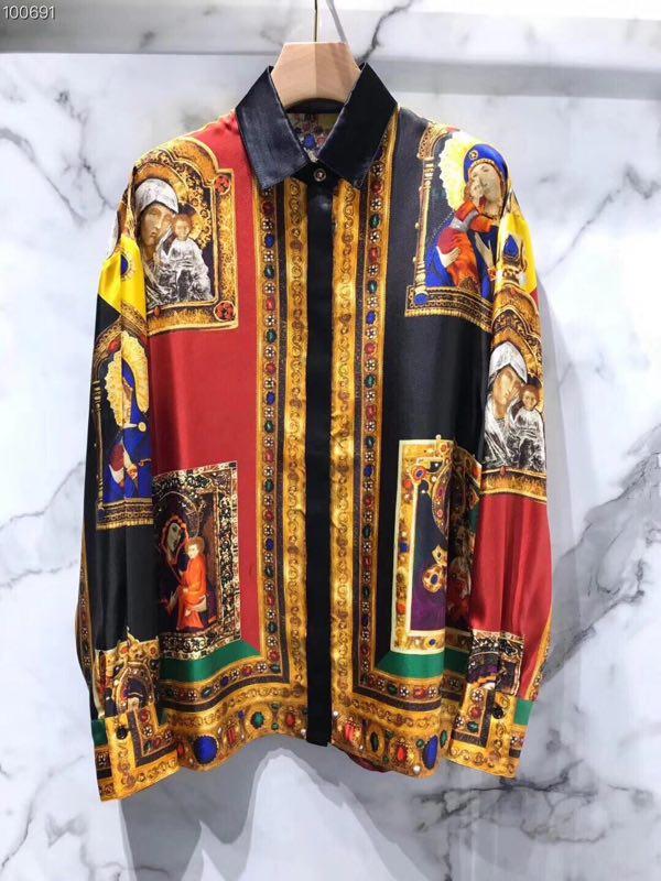 WE08118BJ модные Для мужчин рубашки 2018 взлетно посадочной полосы Элитный бренд Европейский Дизайн вечерние стиль Мужская одежда