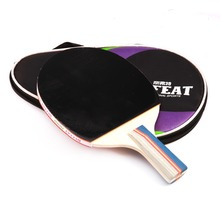 Table Tennis Rackets Pingpong Paddles Racket Rubber Long Handle Sports Accessories With Bag