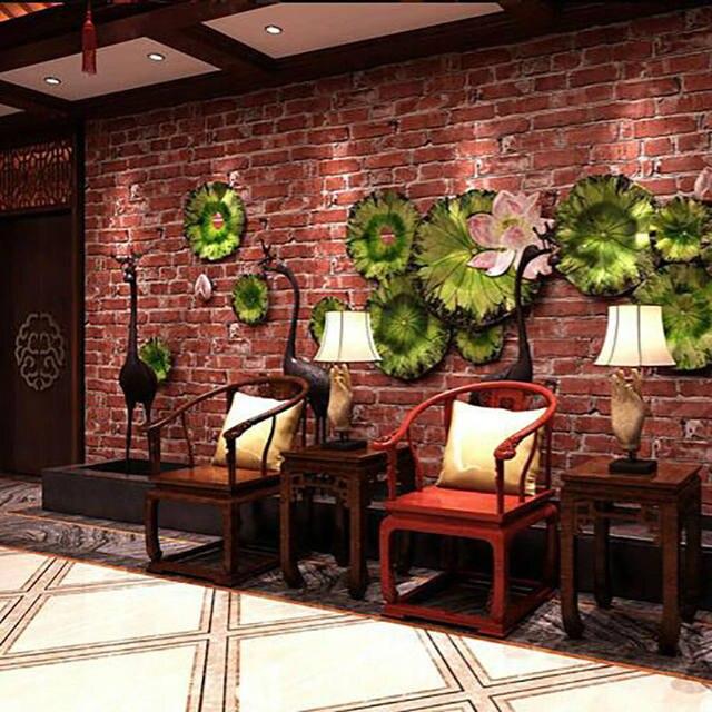 papier peint effet brique rouge awesome tapisserie brique rouge tapisserie brique rouge leroy. Black Bedroom Furniture Sets. Home Design Ideas