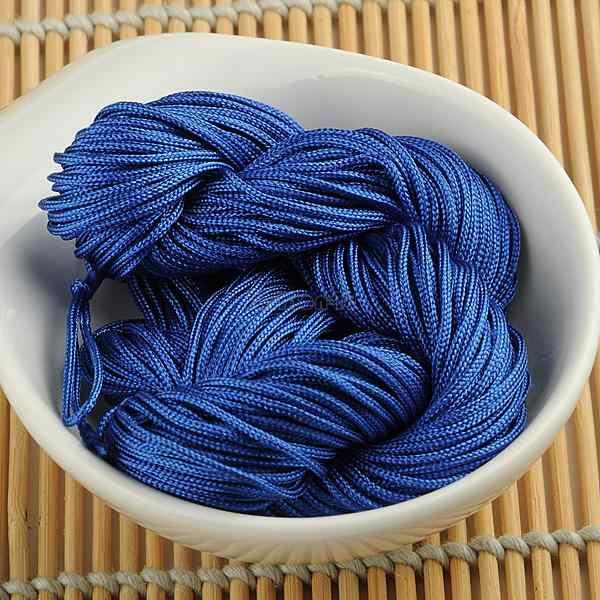WITUSE 11,11 Venta promocional 1mm 22m azul real chino Nylon nudo cordón macramé trenzado rebordear hilo cuerda