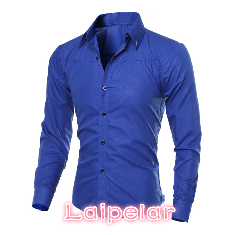 5XL Plus Size Brand-clothing Cotton Mens Clothing Solid Soft Men Shirt Long Sleeve Mens Shirts Casual Slim Fit Hot Sale Laipelar