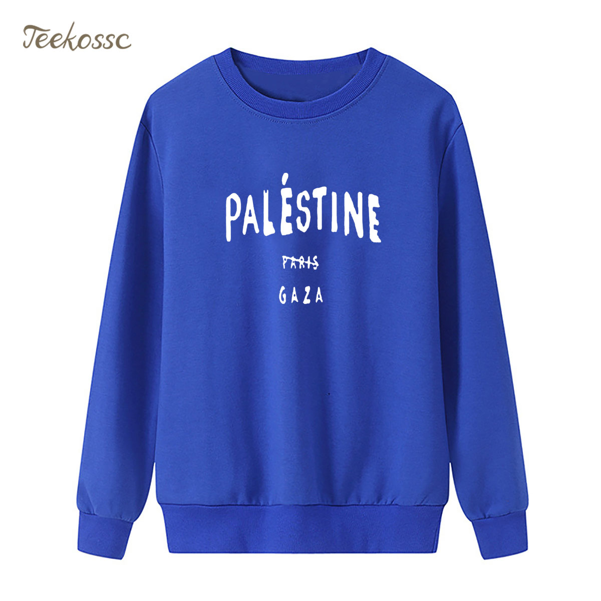 Funny Gaza Palestine Paris 5sos Sweatshirt Print Hoodie 2018 Winter Autumn Women Lasdies Pullover Loose Fleece Casual Streetwear