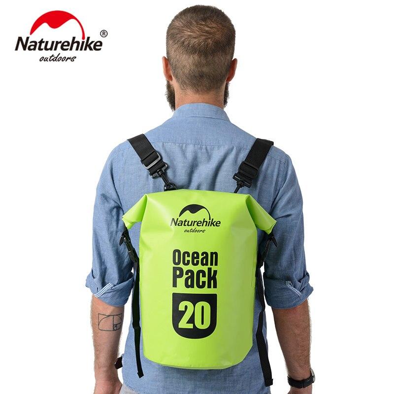 Naturehike Ocean pack 20L 30L Waterproof bag Portable Backpack For Camping Canyoneering Swimming Travel FS16M030 L