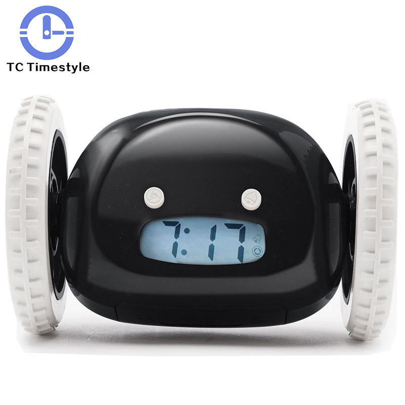 LED The Modern Cute Style Will Run Away The Mini Creative Noctilucent Electronic Creative Alarm Clock