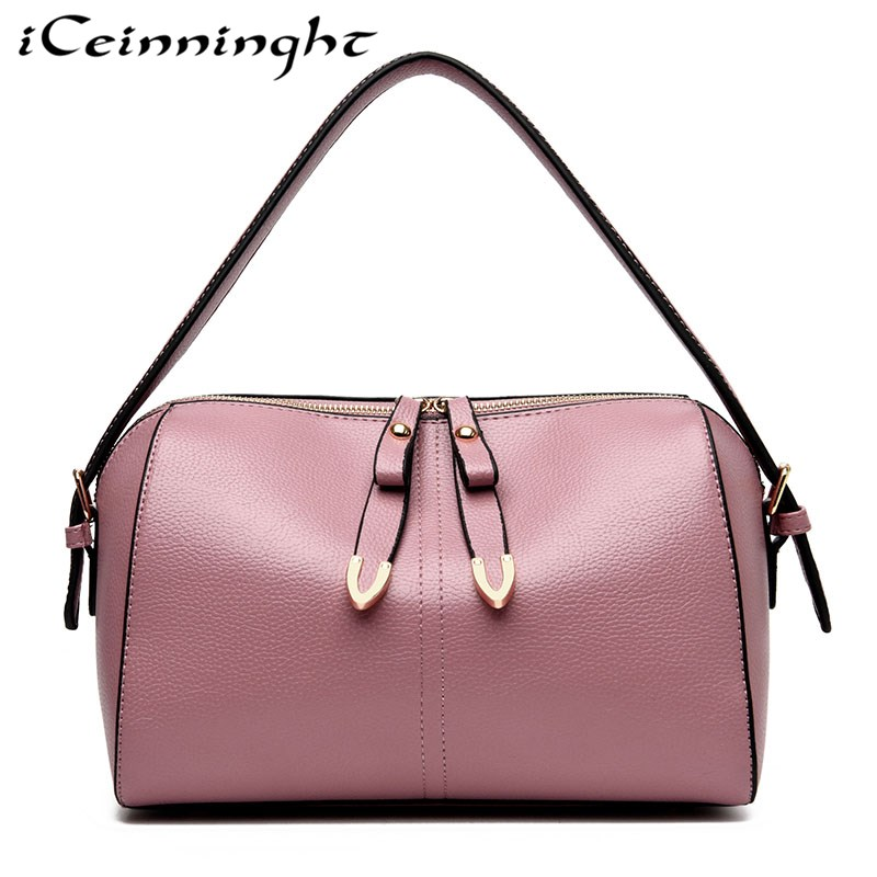 iCeinnight Fashion Woman Bag 2018 New Pillow Type Woman Shoulder Bag Woman Boston Bag Shopping Trip Large Capacity Woman Handbag туфли zenden woman zenden woman ze009awprf46