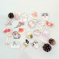 1 PCS Pink Series No.4 Icons Kawaii Acrylic Pin Badges Backpack Pin Badge Icon Pins Decoration