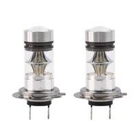2Pcs H7 100W High Power COB LED Auto Car Headlight DRL Fog Driving Light Lamp 20
