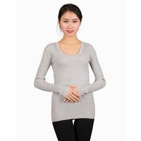 Women Slim O Neck Knitted Pullover Sweater Jumper Blouse