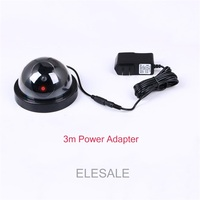 Black Plastic Housing Fake Camera Two AA Battery LED Dummy Security Camera Ir Led Dome CCTV