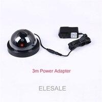 Black Plastic Housing Fake Camera Two AA Battery LED Dummy Security Camera Ir Led Dome CCTV