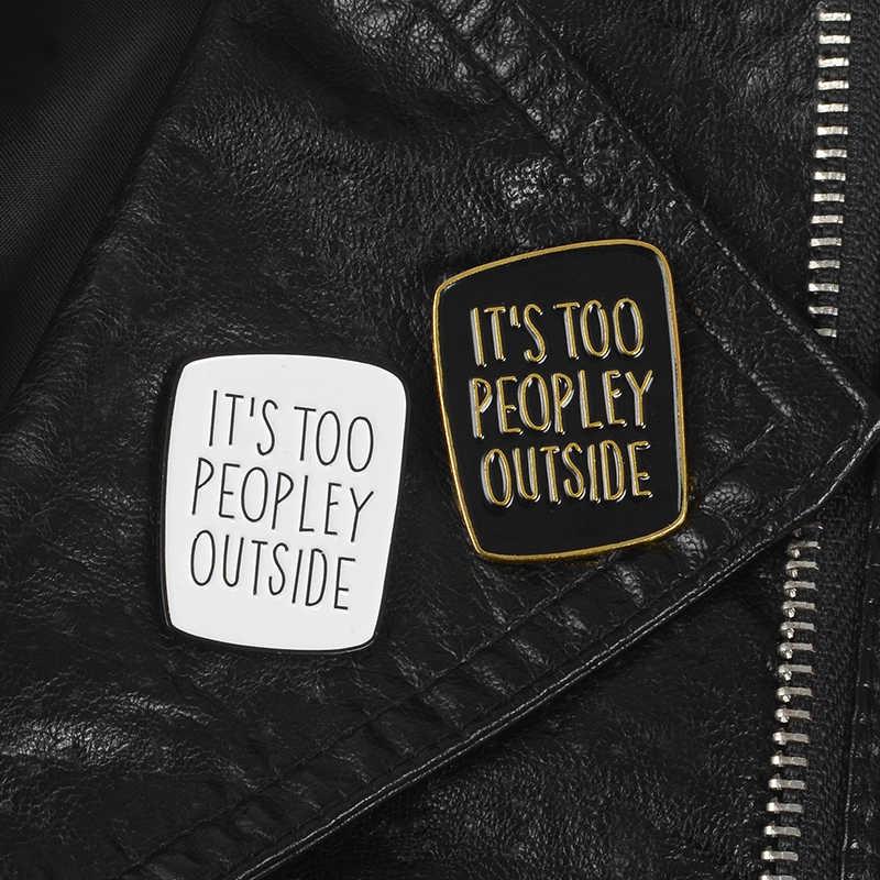 Introvert Bros Anti Sosial Pin Lucu Katakan Lencana Sarkastik Wanita Unisex Pria Bros